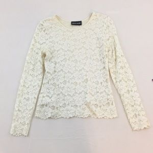 Pierre Cardin long sleeved lace top